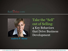 "Take the ""sell"" out of selling: 4 key behaviours that drive business development"