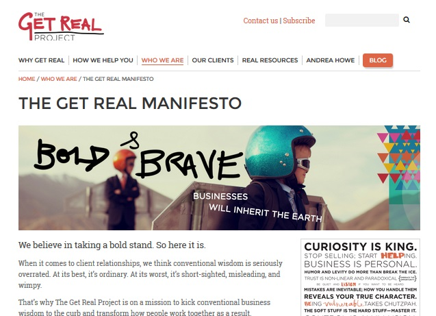 """The Get Real Manifesto - """"After"""""""