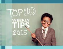 Top 10 Weekly Tips 2015