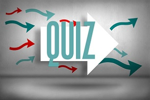 The word QUIZ surrounded by arrows pointing right