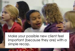 A simple best practice: The quick recap