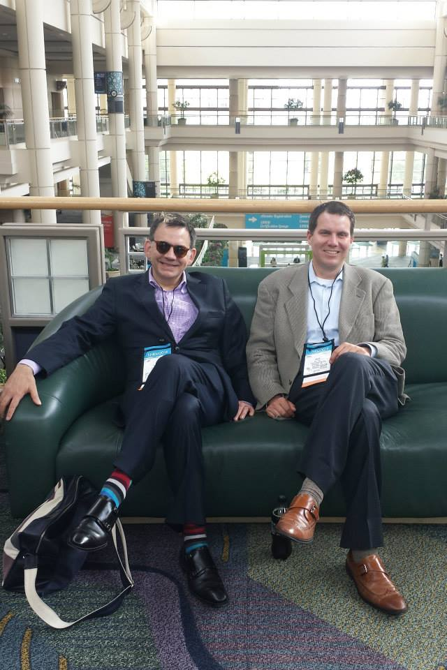 Shawn and Cary relaxing at the SHRM Annual Conference & Exposition