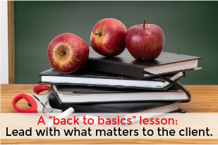 "A ""back to basics"" lesson"