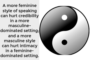 A more feminine style of speaking